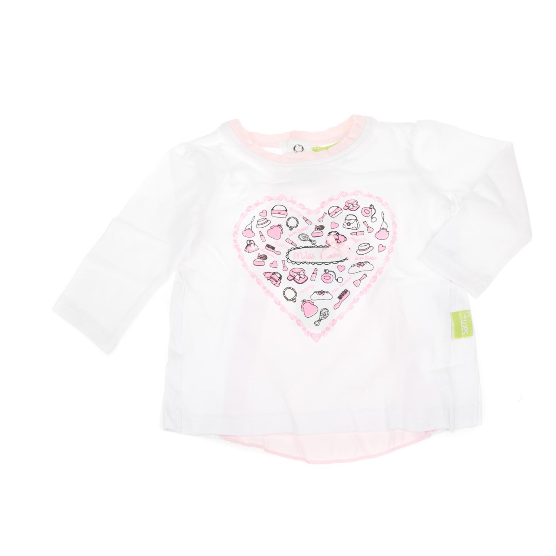 -61% SAM 0-13 – Βρεφική μακρυμάνικη μπλούζα SAM 0-13 λευκή-ροζ 92e98ca453c