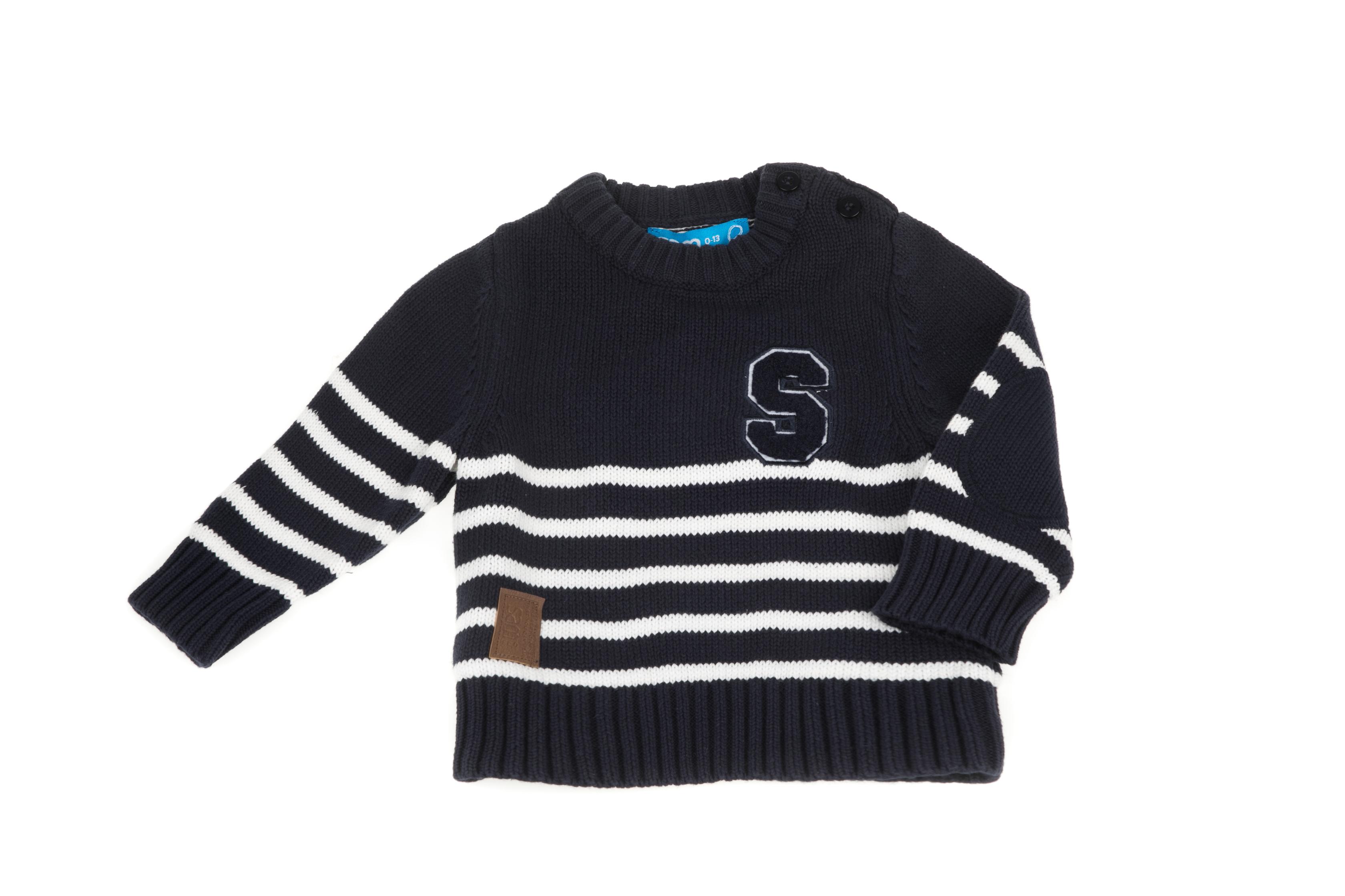 SAM 0-13 - Βρεφικό πουλόβερ με ρίγες SAM 0-13 μπλε 7c541b057bd
