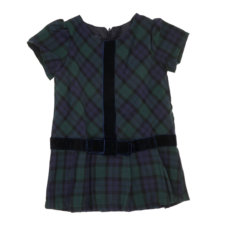 SAM 0-13 - Βρεφικό καρό φόρεμα με πιέτες SAM 0-13 πράσινο