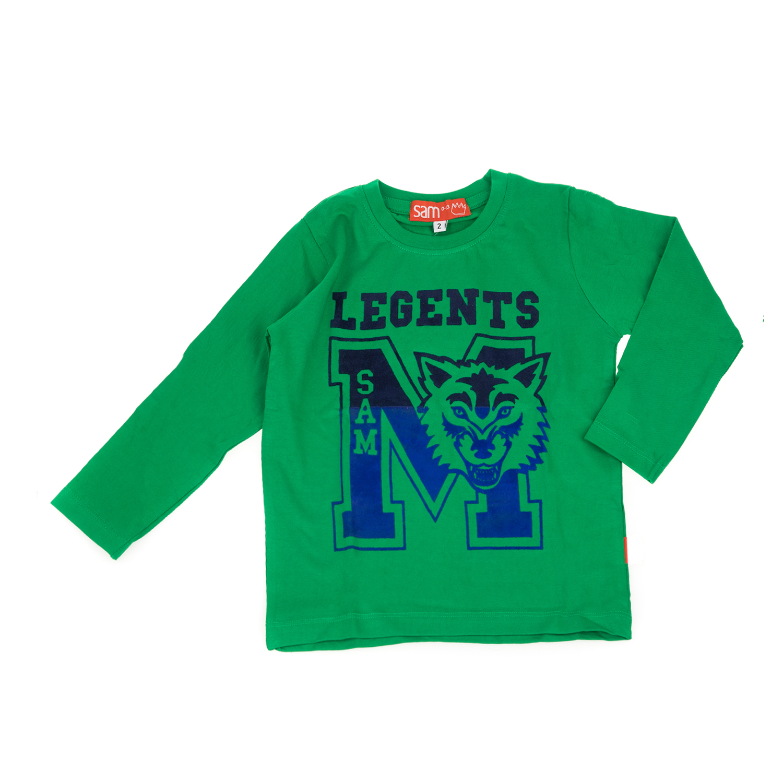16561f5af54 SAM 0-13 - Παιδική μακρυμάνικη μπλούζα για μικρά αγόρια SAM 0-13 πράσινη