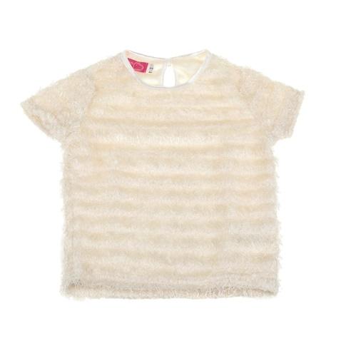 Παιδική χνουδωτή μπλούζα για μικρά κορίτσια SAM 0-13 εκρού (1728483.0-e300)   1df2a9d891c