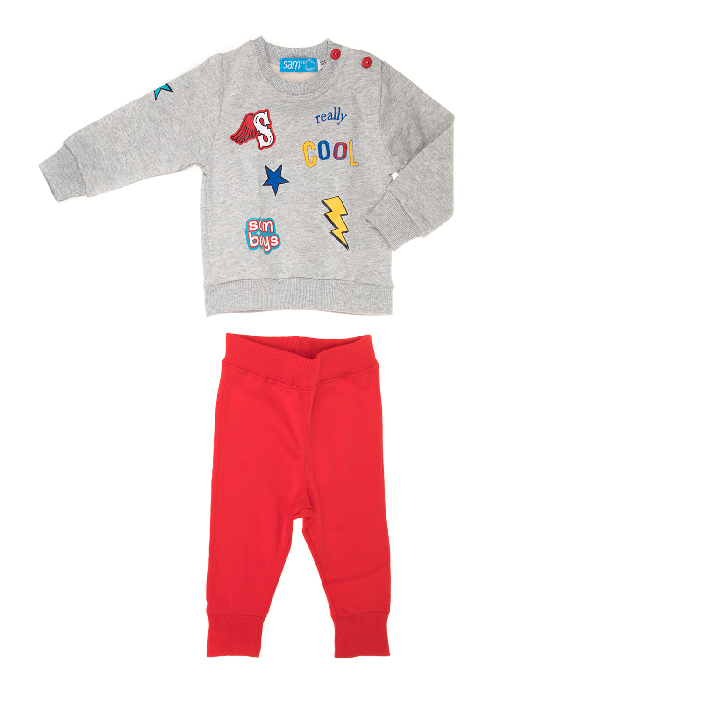 Factoryoutlet SAM 0-13 - Βρεφικό σετ με φούτερ μπλούζα και παντελόνι φόρμας SAM  0- e1dd429dd07