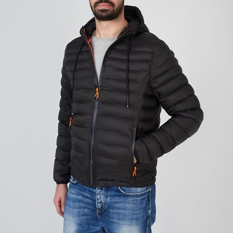 Ανδρικό μπουφάν με κουκούλα FUNKY BUDDHA μαύρο (1728658.0-0071 ... a426476cec1