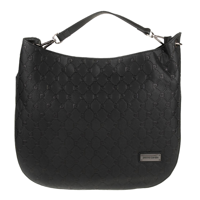 PIERRE CARDIN - Γυναικεία τσάντα χιαστί PIERRE CARDIN μαύρη γυναικεία αξεσουάρ τσάντες σακίδια χιαστή   cross body