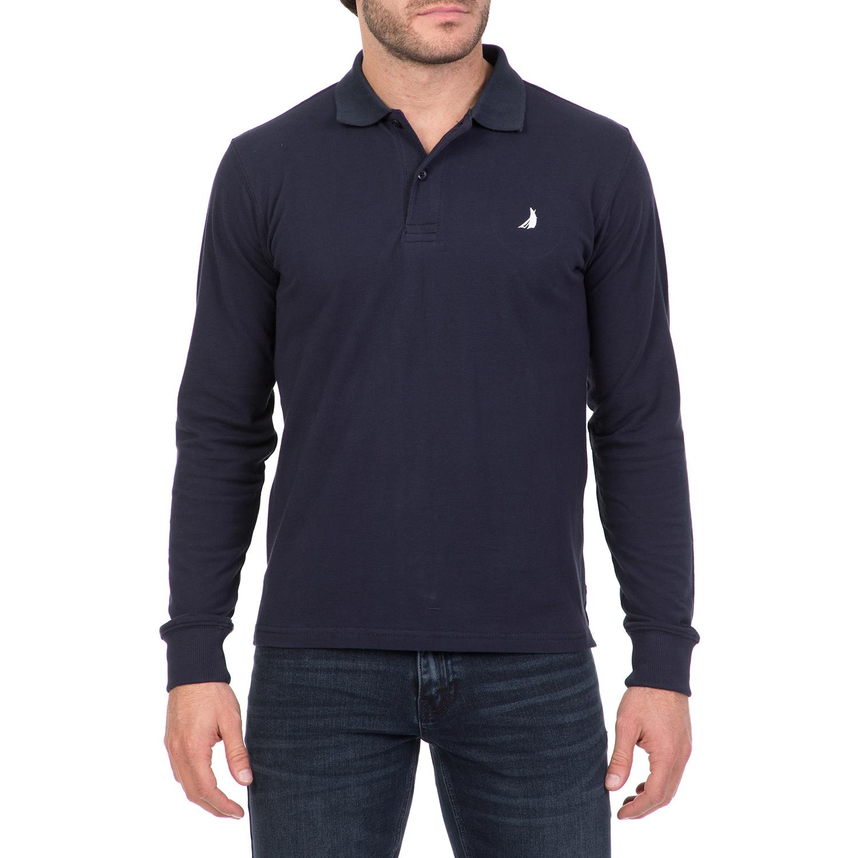 6ad68798b630 CATAMARAN SAILWEAR – Ανδρική μακρυμάνικη πόλο μπλούζα CATAMARAN SAILWEAR  μπλε 1728709.0-0103