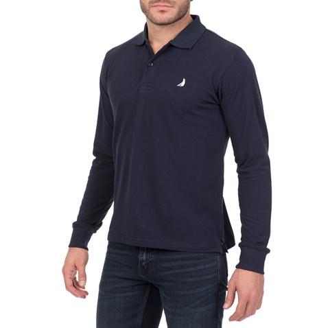CATAMARAN SAILWEAR. Ανδρική μακρυμάνικη πόλο μπλούζα CATAMARAN SAILWEAR μπλε d8ed73166a1