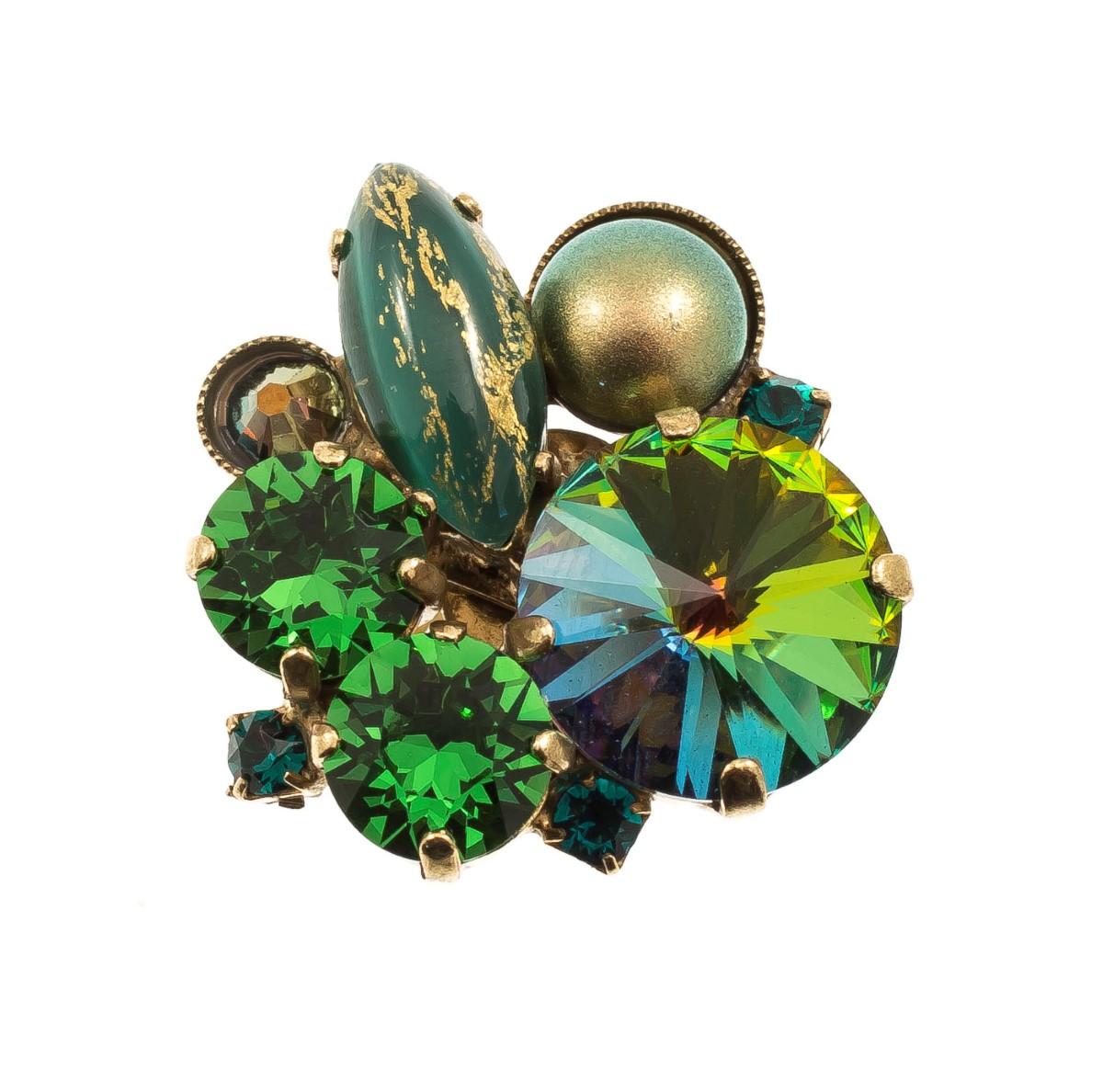 ARTWEAR DIMITRIADIS - Γυναικείο μεταλλικό δαχτυλίδι ARTWEAR DIMITRIADIS με στρας γυναικεία αξεσουάρ κοσμήματα δαχτυλίδια