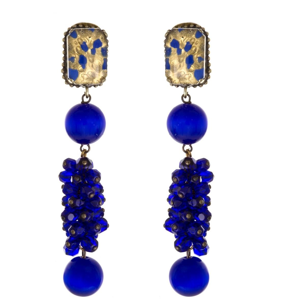 ARTWEAR DIMITRIADIS - Γυναικεία κρεμαστά σκουλαρίκια ARTWEAR DIMITRIADIS με μπλε γυναικεία αξεσουάρ κοσμήματα σκουλαρίκια