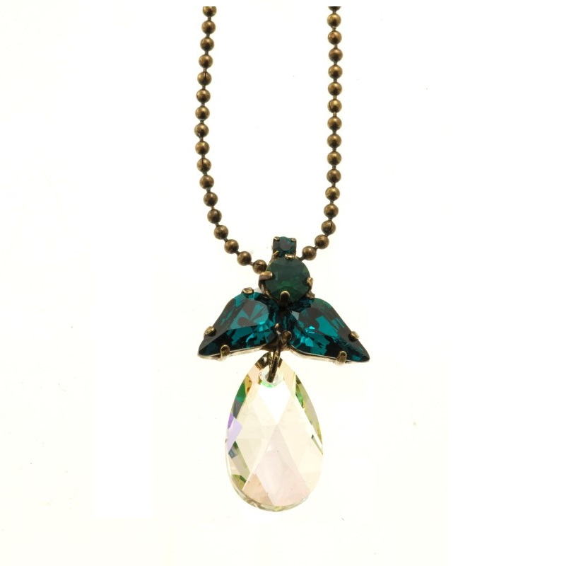 ARTWEAR DIMITRIADIS - Γυναικείο κολιέ ARTWEAR DIMITRIADIS με στρας και κρύσταλλο γυναικεία αξεσουάρ κοσμήματα κολιέ