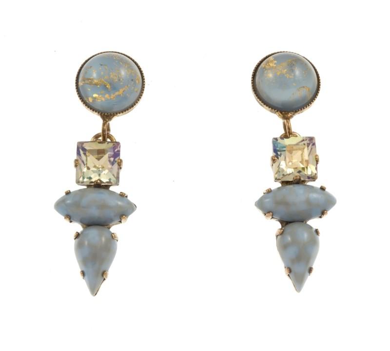 6decb377bb -19% ARTWEAR DIMITRIADIS – Γυναικεία σκουλαρίκια ARTWEAR DIMITRIADIS με  στρας   πέτρα
