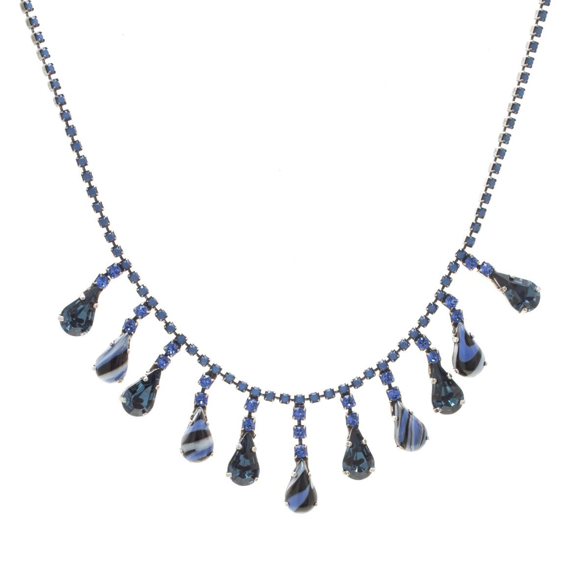ARTWEAR DIMITRIADIS – Γυναικείο κολιέ ARTWEAR DIMITRIADIS μπλε με στρας και  πέτρες. Factory Outlet 2fcb662d2a2