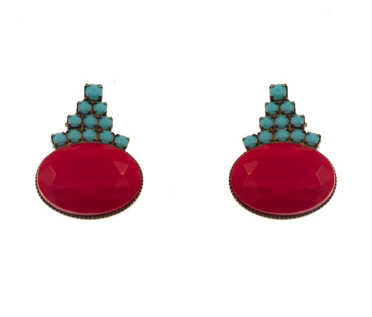 ARTWEAR DIMITRIADIS - Γυναικεία σκουλαρίκια ARTWEAR DIMITRIADIS με στρας & πέτρα γυναικεία αξεσουάρ κοσμήματα σκουλαρίκια