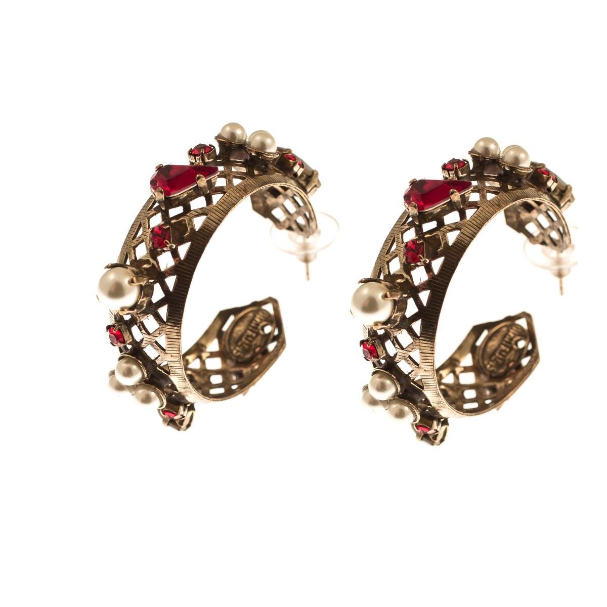 ARTWEAR DIMITRIADIS - Γυναικεία σκουλαρίκια κρίκοι ARTWEAR DIMITRIADIS με στρας  γυναικεία αξεσουάρ κοσμήματα σκουλαρίκια