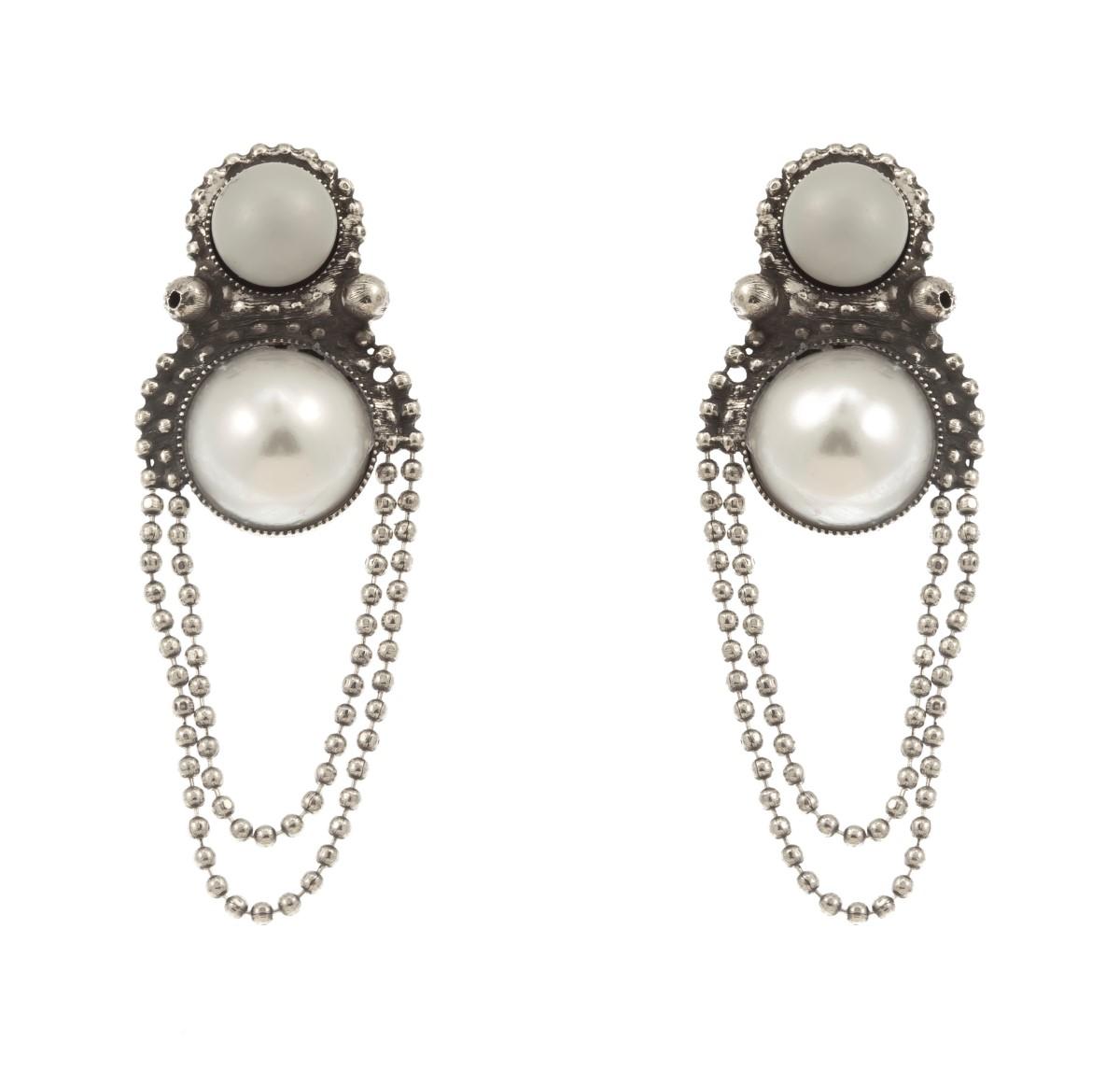 ARTWEAR DIMITRIADIS - Γυναικεία κρεμαστά σκουλαρίκια ARTWEAR DIMITRIADIS με πέρλ γυναικεία αξεσουάρ κοσμήματα σκουλαρίκια