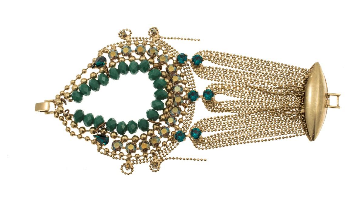 ARTWEAR DIMITRIADIS - Γυναικείο βραχιόλι ARTWEAR DIMITRIADIS με κρυστάλλινες πέτ γυναικεία αξεσουάρ κοσμήματα βραχιόλια