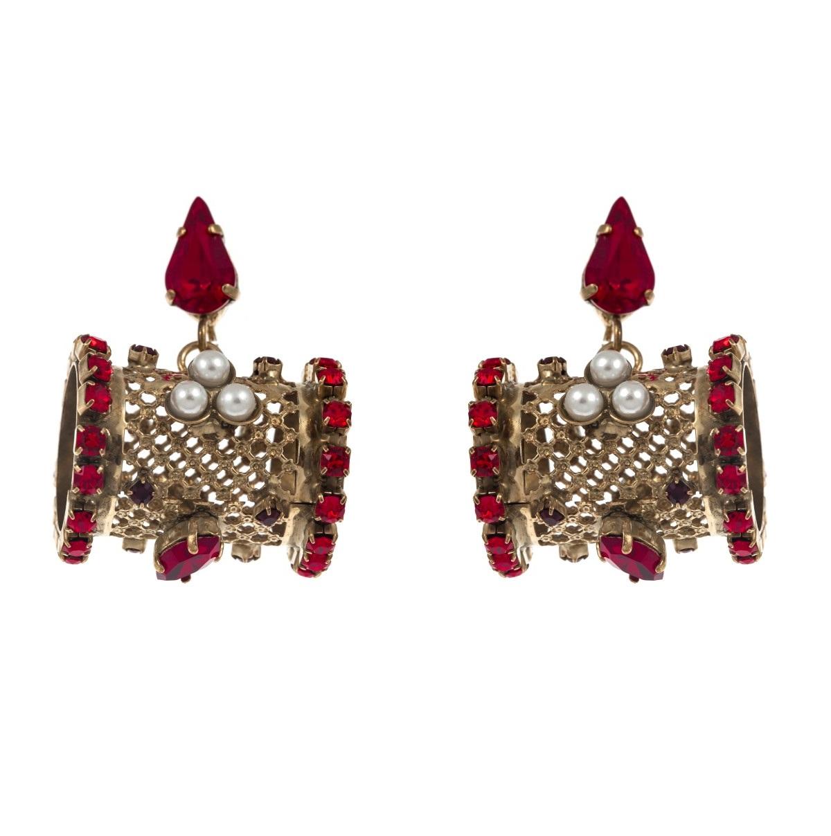ARTWEAR DIMITRIADIS - Γυναικεία σκουλαρίκια ARTWEAR DIMITRIADIS με στρας & πέρλε γυναικεία αξεσουάρ κοσμήματα σκουλαρίκια