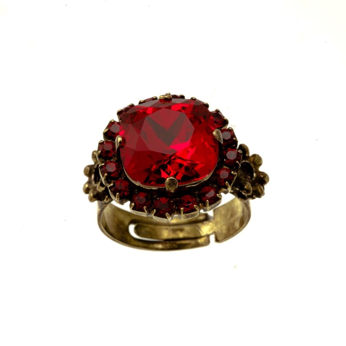 ARTWEAR DIMITRIADIS - Γυναικείο δαχτυλίδι μπρονζέ ARTWEAR DIMITRIADIS με στρας κ γυναικεία αξεσουάρ κοσμήματα δαχτυλίδια