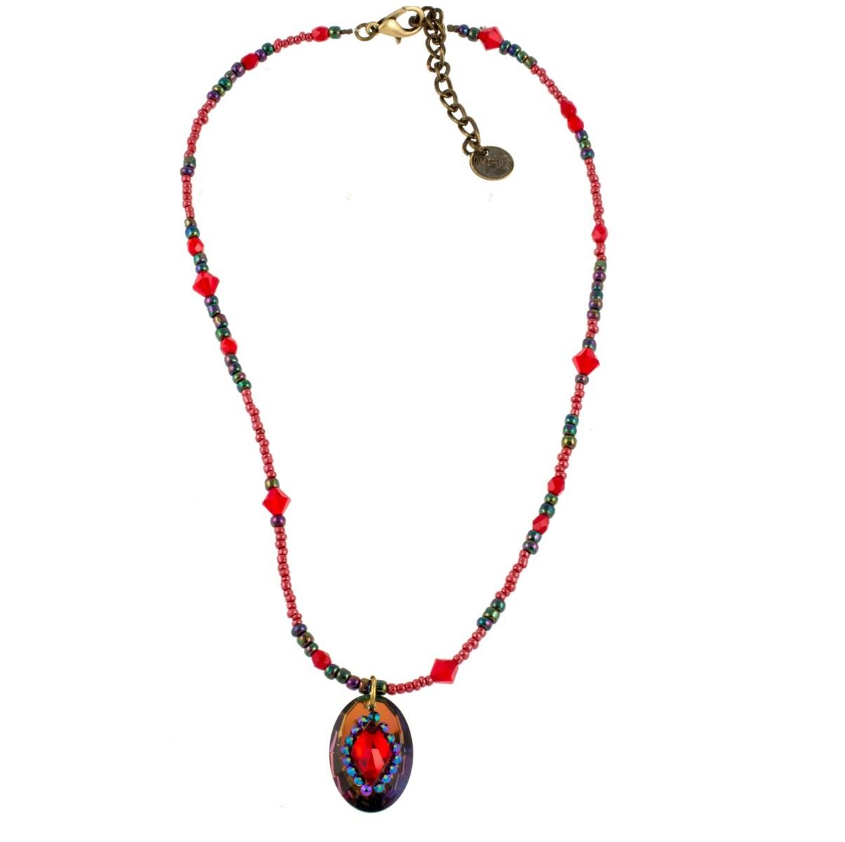 ARTWEAR DIMITRIADIS - Γυναικείο κολιέ ARTWEAR DIMITRIADIS με πολύχρωμες χάντρες  γυναικεία αξεσουάρ κοσμήματα κολιέ