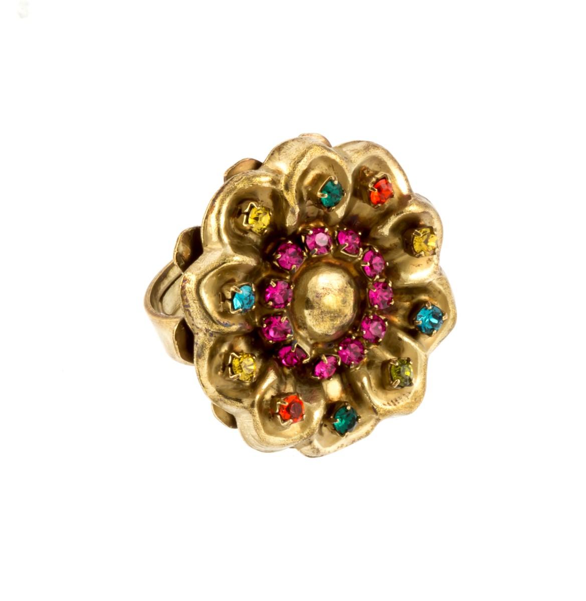 ARTWEAR DIMITRIADIS - Γυναικείο δαχτυλίδι μπρονζέ ARTWEAR DIMITRIADIS με πολύχρω γυναικεία αξεσουάρ κοσμήματα δαχτυλίδια