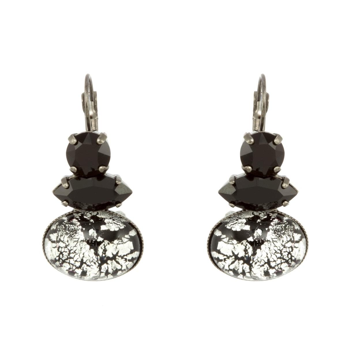 9b6e9d2538 ARTWEAR DIMITRIADIS – Γυναικεία σκουλαρίκια ARTWEAR DIMITRIADIS με μαύρα  στρας