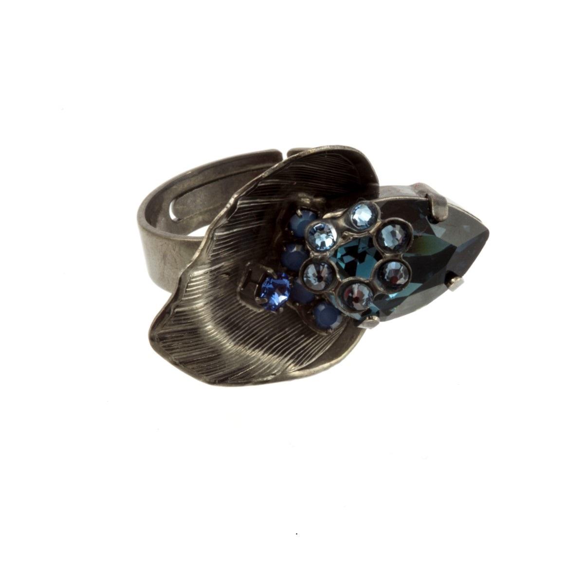 ARTWEAR DIMITRIADIS - Γυναικείο μεταλλικό δαχτυλίδι ARTWEAR DIMITRIADIS μαύρο με γυναικεία αξεσουάρ κοσμήματα δαχτυλίδια