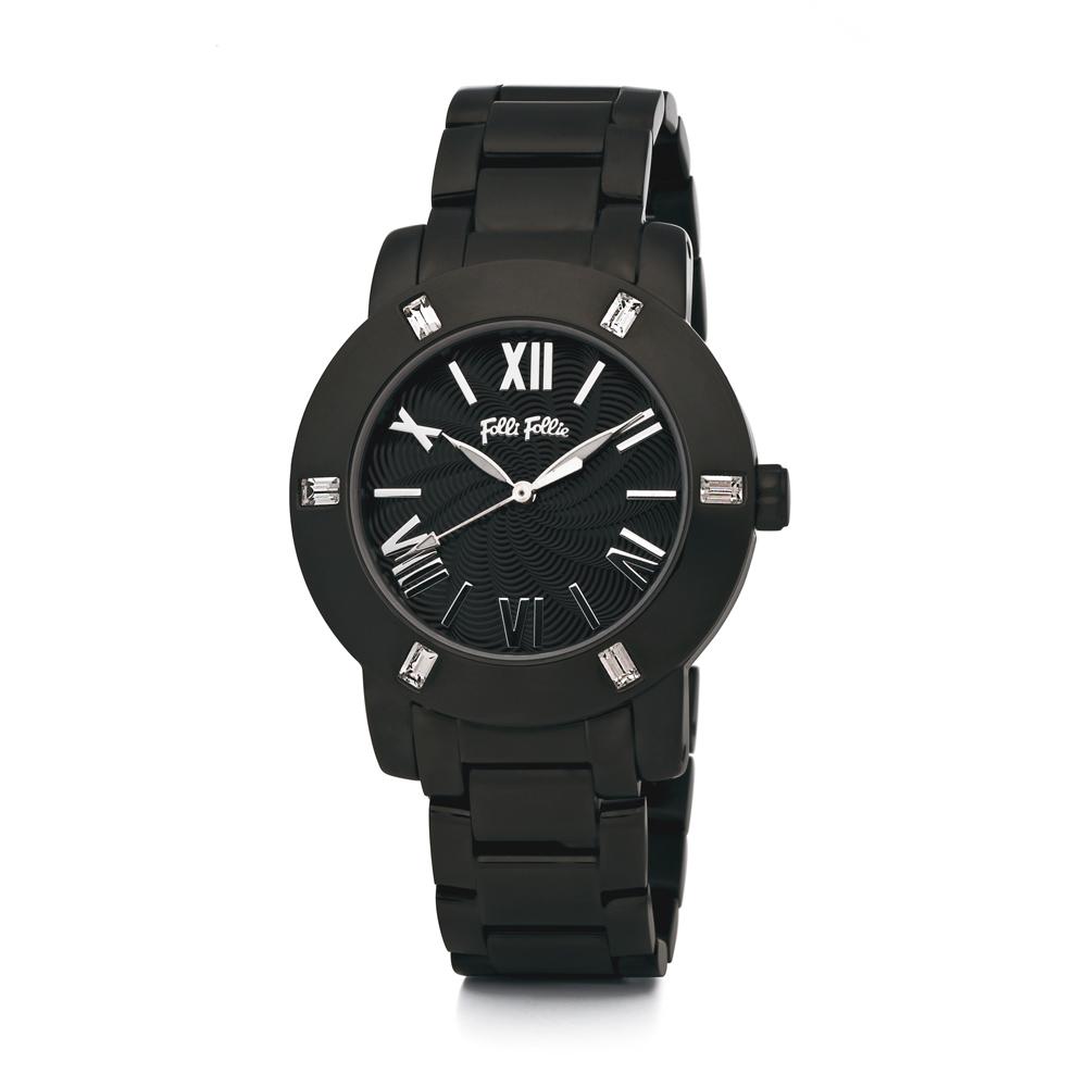 FOLLI FOLLIE - Γυναικείο ρολόι Folli Follie DONATELLA μαύρο