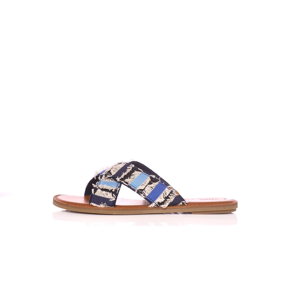 TOMS – Γυναικεία σανδάλια Toms COUPE DENIM μπλε-λευκά
