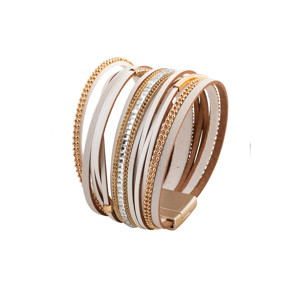 MOOD MAKERS - Γυναικείο βραχιόλι MOOD MAKERS λευκό γυναικεία αξεσουάρ κοσμήματα βραχιόλια