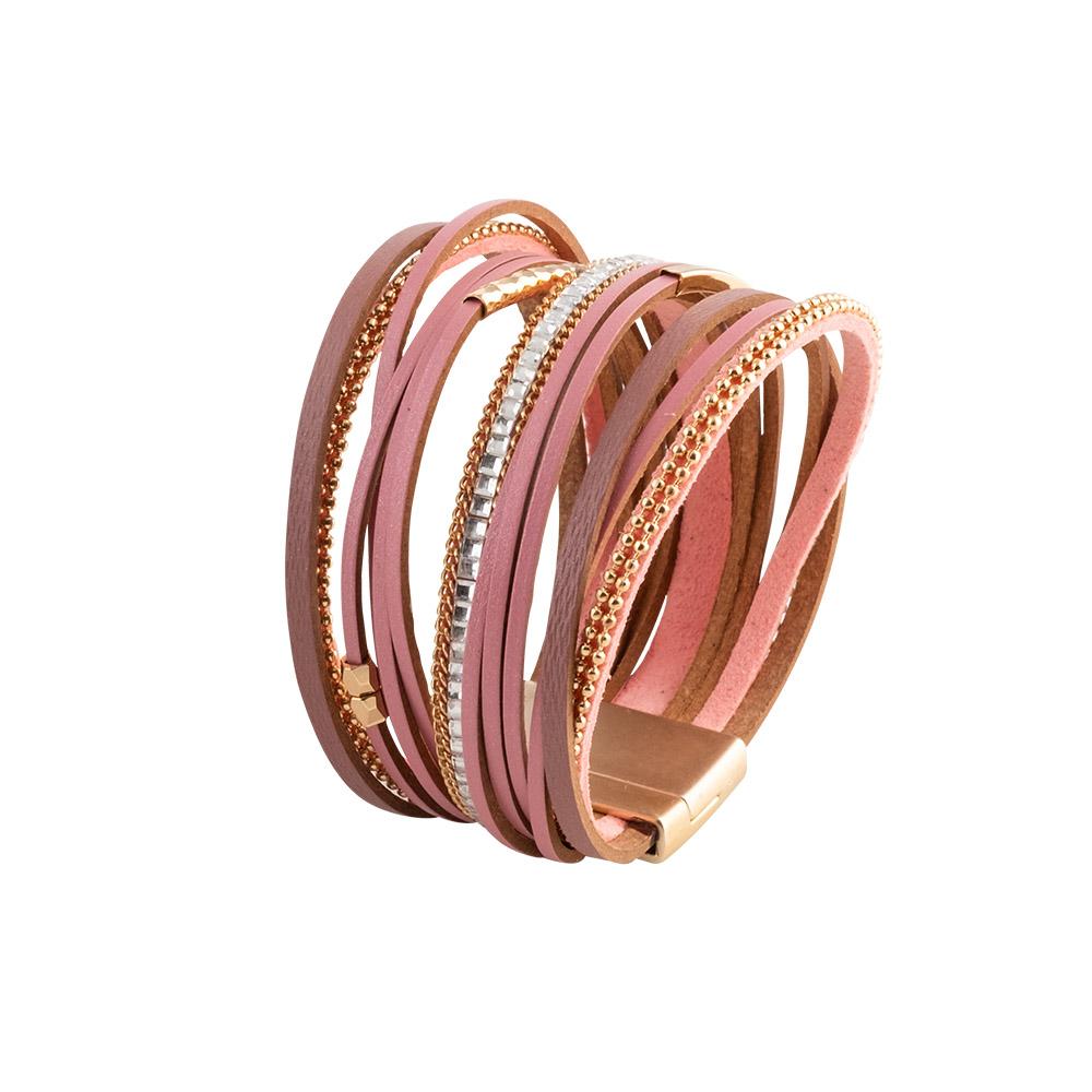 MOOD MAKERS - Γυναικείο βραχιόλι MOOD MAKERS ροζ γυναικεία αξεσουάρ κοσμήματα βραχιόλια