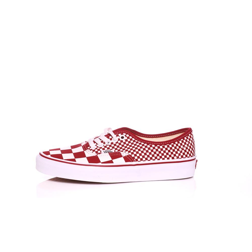 VANS – Unisex sneakers VANS AUTHENTIC κόκκινα-λευκά