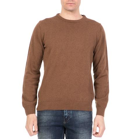Ανδρική πλεκτή μπλούζα DORS καφέ (1733231.0-0021)  304afcabdf6