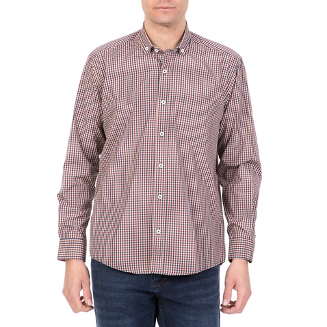 a1fc409a4769 Ανδρικό μακρυμάνικο καρό πουκάμισο DORS κόκκινο (1733232.0-0047 ...
