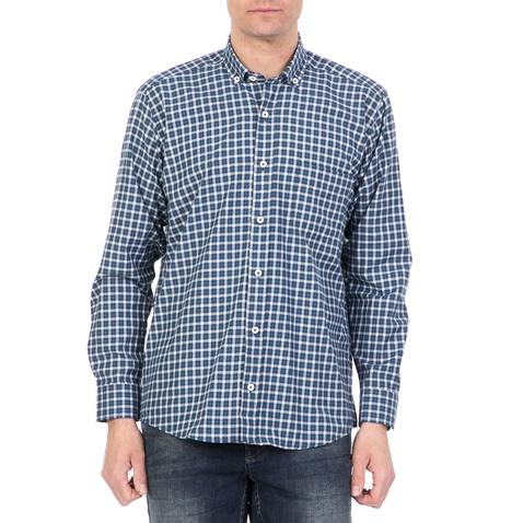c0829a8e87ed Ανδρικό μακρυμάνικο καρό πουκάμισο DORS μπλε (1733232.0-0207 ...