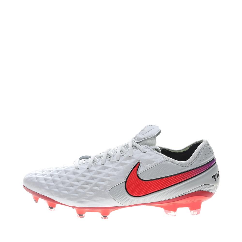 NIKE – Unisex παπούτσια football NIKE LEGEND 8 ELITE FG λευκά πορτοκαλί