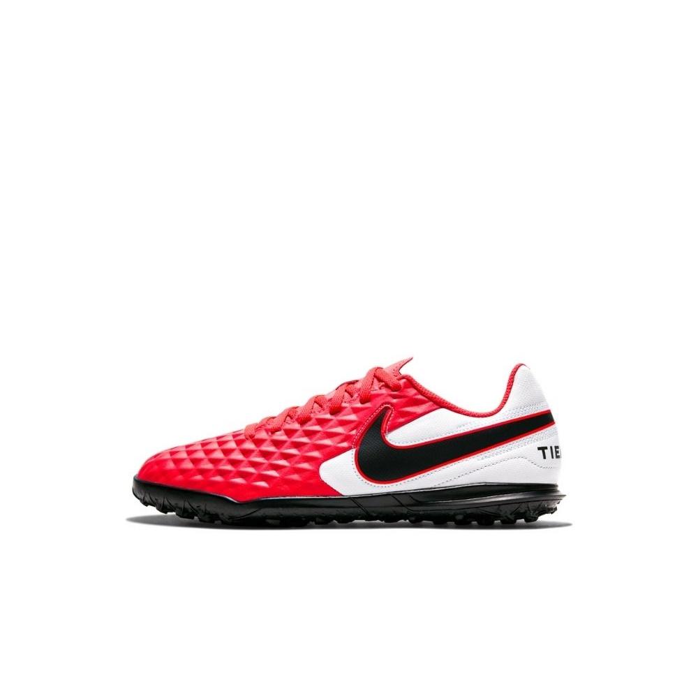 NIKE – Παιδικά παπούτσια ποδοσφαίρου NIKE JR LEGEND 8 CLUB TF κόκκινα