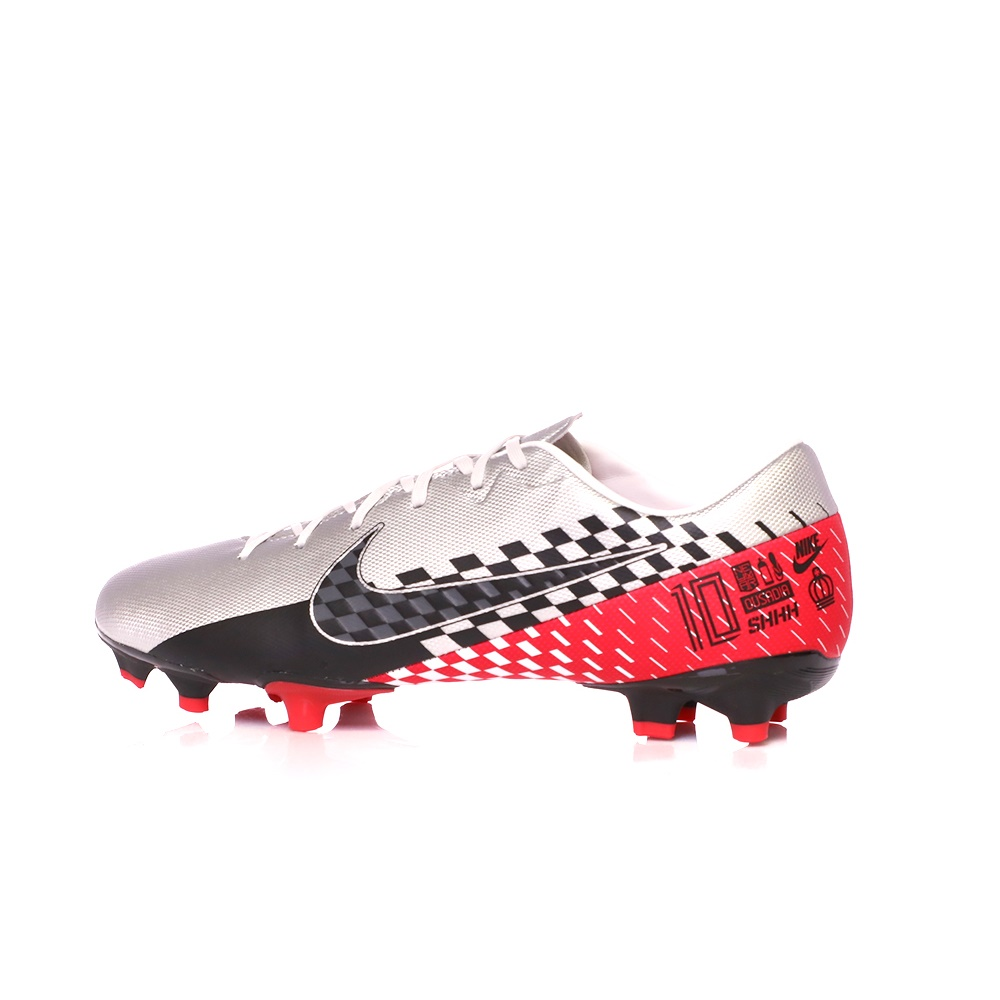 NIKE – Παιδικά παπούτσια NIKE VAPOR 13 ACADEMY NJR FG/MG ασημί κόκκινα