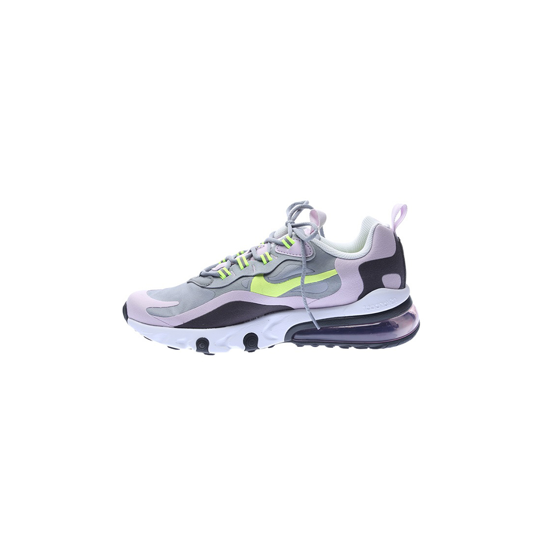 NIKE – Παιδικά αθλητικά παπούτσια NIKE AIR MAX 270 REACT (GS) γκρι-κίτρινα