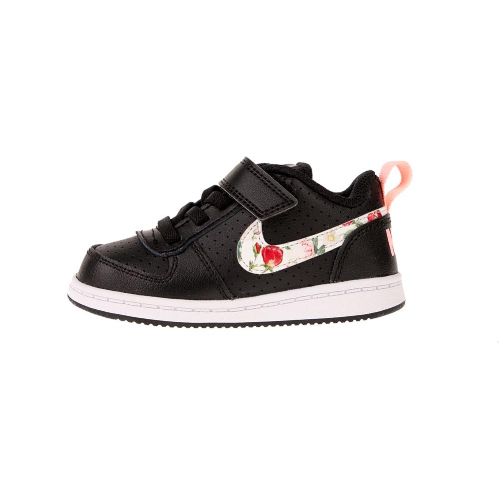NIKE – Παιδικά παπούσια NIKE COURT BOROUGH LOW μαύρα