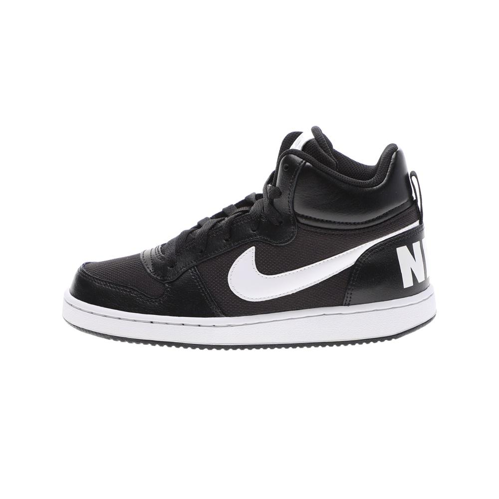 NIKE – Παιδικά παπούτσια basketball NIKE COURT BOROUGH MID PE (GS) μαύρα λευκά