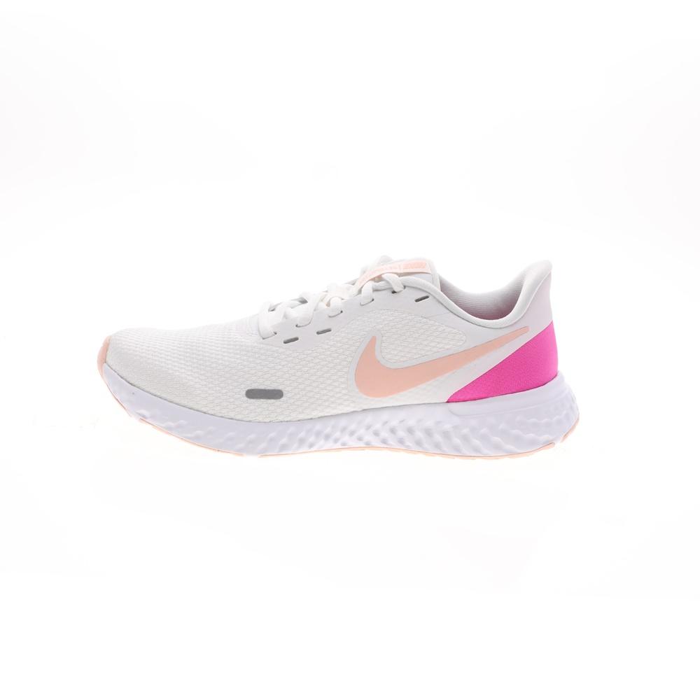 NIKE – Γυναικεία παπούτσια running NIKE REVOLUTION 5 λευκά ροζ