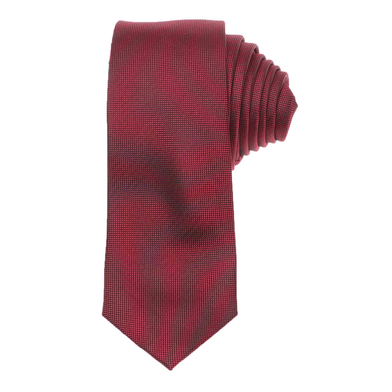 CK - Ανδρική γραβάτα CK OXFORD SOLID μπορντό