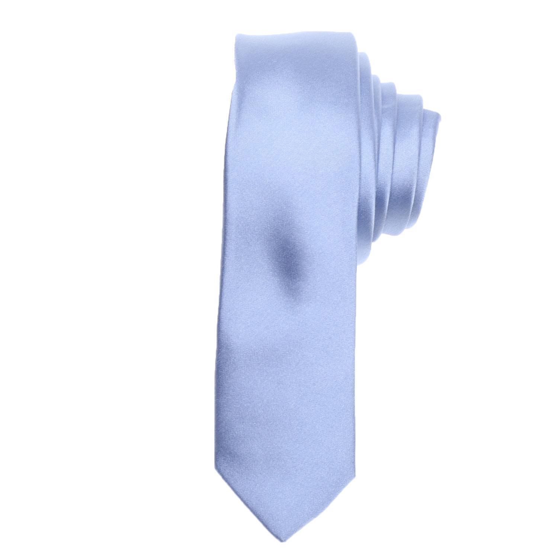 CK - Ανδρική γραβάτα CK SATIN SOLID SLIM γαλάζια