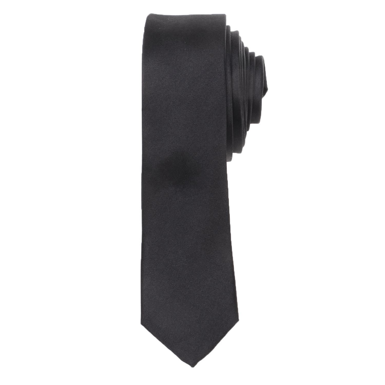 CK - Ανδρική γραβάτα CK SATIN SOLID SLIM μαύρη