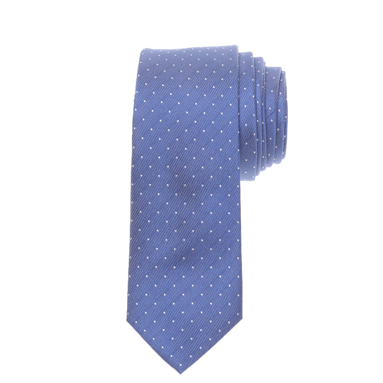 CK - Ανδρική γραβάτα CK CLASSIC DOT μπλε λευκή