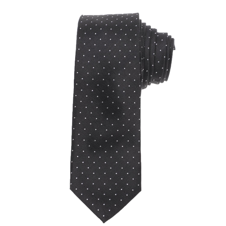 CK - Ανδρική γραβάτα CK CLASSIC DOT μαύρη λευκή
