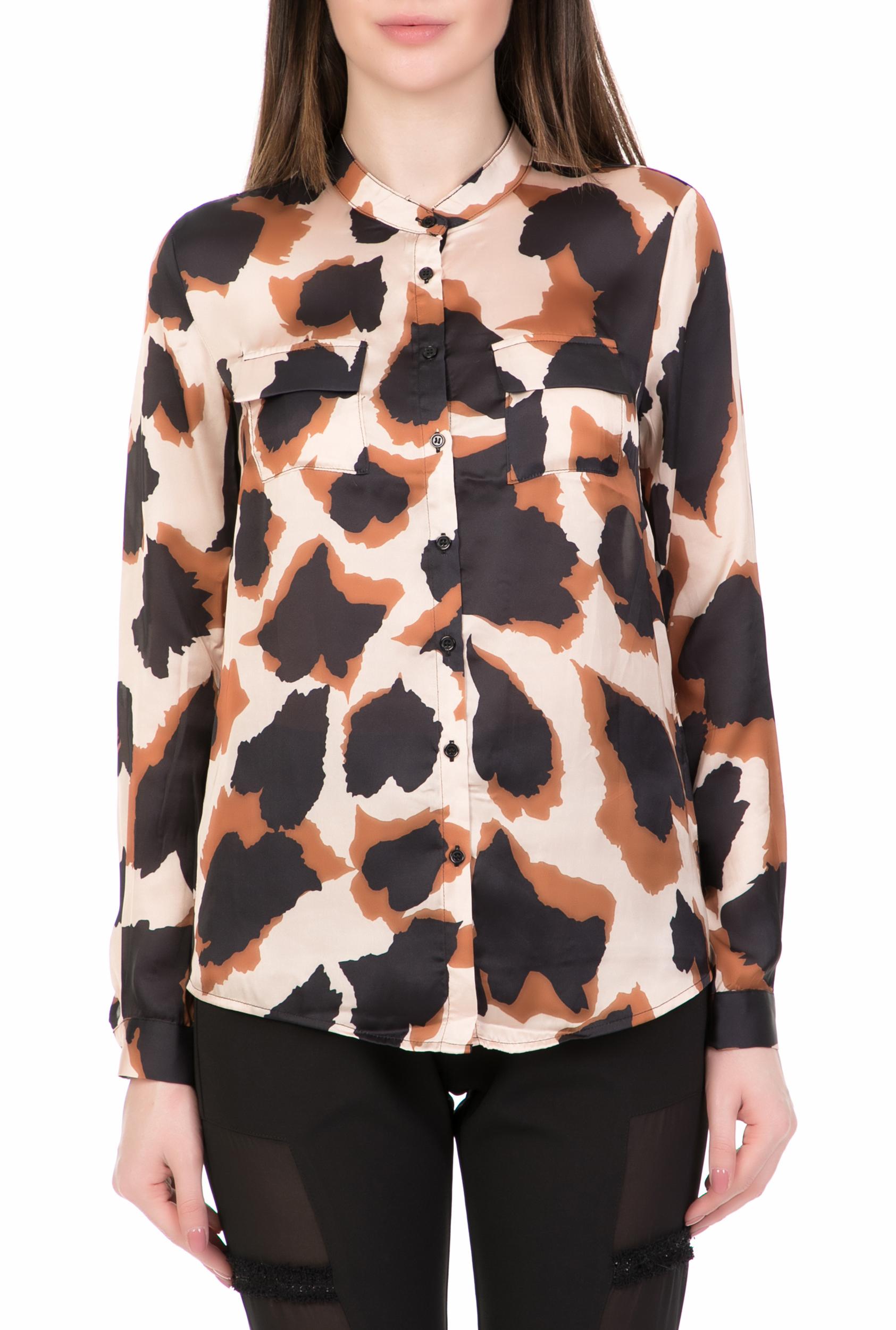 NU - Γυναικείο μακρυμάνικο πουκάμισο NU μπεζ