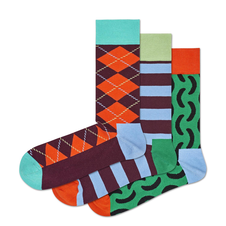 HAPPY SOCKS - Σετ unisex κάλτσες HAPPY SOCKS πολύχρωμες γυναικεία αξεσουάρ κάλτσες