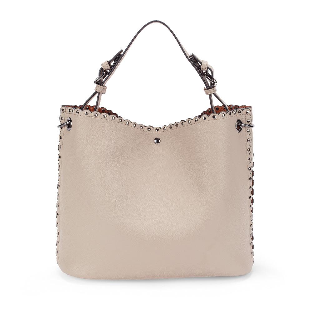 dd318ea82eb FOLLI FOLLIE – Γυναικεία τσάντα hobo FOLLI FOLLIE εκρού