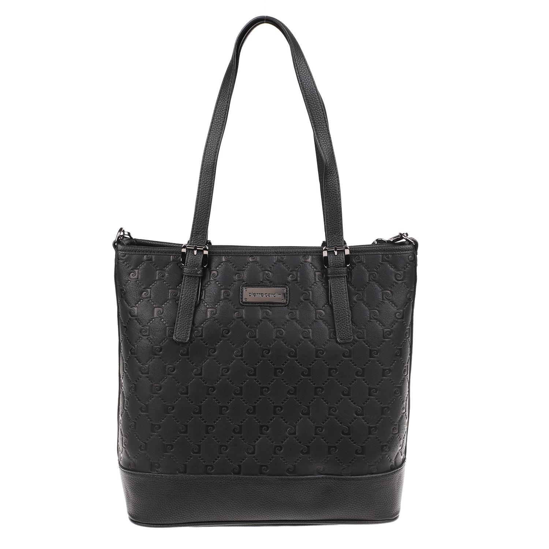 PIERRE CARDIN – Γυναικεία τσάντα ώμου PIERRE CARDIN μαύρη 1741511.0-0071 f4ec0ace1ec