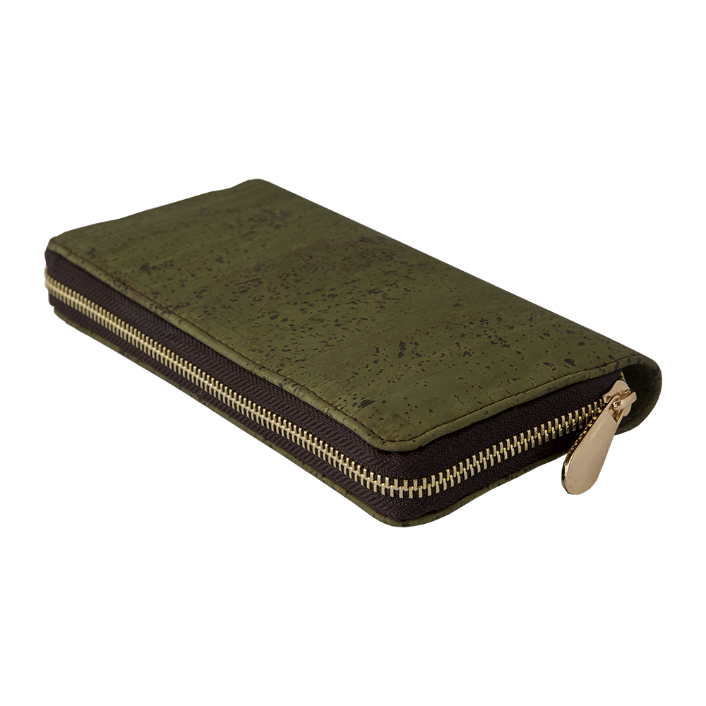 APOXYLO - Γυναικείο πορτοφόλι με φερμούαρ APOXYLO πράσινο